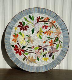Mesa de mosaico colorido baile flores Vidrieras por ParadiseMosaics Más