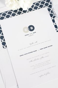 Navy and Taupe Wedding invitations