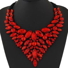 1bd35ea91ad Shop Women s Simple Feather Boutique Red Black size OS Necklaces at a  discounted price at Poshmark. Description   New Boutique Item   Material   Alloy ...