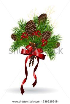 Christmas garlands. Vector illustration - stock vector