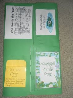 Pond Lapbook with pond printable resources