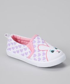 @Liz Mester sandrock  Take a look at the Chatties Pink  Purple Rabbit Slip-On Sneaker on #zulily today!