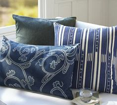 Larken Printed Pillow Collection #potterybarn