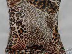 Two Leopard Faux Fur Throw Pillows Pillow New 2 | eBay
