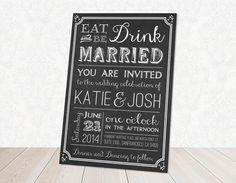 Hey, I found this really awesome Etsy listing at https://www.etsy.com/listing/176815365/chalk-board-wedding-invitation-fully