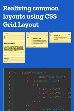 Common layouts using CSS Grid Layout