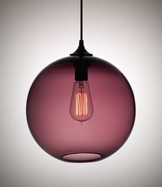 One of the best lighting fixtures in existence, the Solitaire Pendant by Niche Modern, is available in a lovely plum-purple hue; $450 at Lumens.