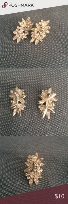 Statement earrings 💖 Beautiful floral design. Looks amazing in the ear. Stud style. Gorgeous and elegant Jewelry Earrings