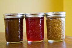 Pumpkin Butter, Pomegranate Jelly, Apple-Cinnamon Jam by Sugarcrafter, via Flickr