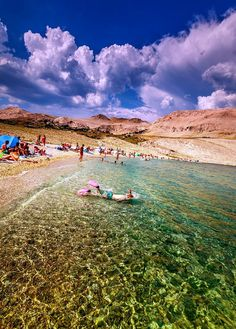 What to do in Croatia: Best Beaches. Ručica Beach, Island of Pag. Vacation Places, Best Vacations, Vacation Spots, Vacation Travel, Visit Croatia, Croatia Travel, Croatia Resorts, Croatia Destinations, Croatia 2016