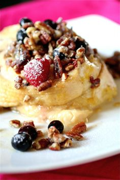 Baked Berry French Toast--making this now.  Lets see how it goes!