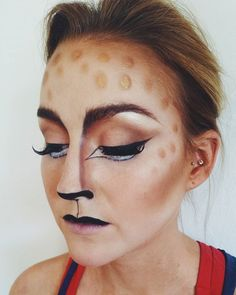 Pin for Later: Deer Makeup Halloween Costume Ideas You'll Want to Fawn Over Lash it up