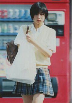 Japanese Beauty, Japanese Girl, Asian Woman, Asian Girl, Japanese Photography, Shot Hair Styles, School Uniform Girls, Japanese Models, Japan Fashion