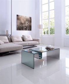 Casabianca FIGARO Mirrored Glass Coffee Table
