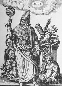 Ideal figure of Hermes Trismegistus, copy of illustration from 'De Divinatione et Magicis Praestigiis' by Jean-Jacques Boissard, 1605, published late 19th Century (engraving). English School, (17th century) (after). Private Collection, The Stapleton Collection. Art, Fine Art. Ideal figure of Hermes Trismegistus, copy of illustration from 'De Divinatione et Magicis Praestigiis' by Jean-Jacques Boissard, 1605, published late 19th Century (engraving). English School, (17th century) (after). ...