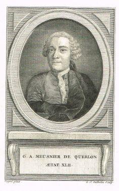 """Anne-Gabriel Meusnier de Querlon (15/04/1702 - 12/04/1780) - homme de lettres  - a écrit un """"Règlement pour l'Opéra"""""""