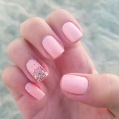 13 Pretty And Pink Trendy Wedding Nails Ideas - Weddingomania Pretty Nail Colors, Beautiful Nail Designs, Cool Nail Designs, Pretty Nails, Pink Wedding Nails, Bridal Nails, Pink Nail Art, Pink Nails, Shellac Nails