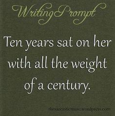 The weight of a century. | PROMPTUARIUM