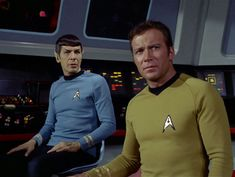 """Leonard Nimoy as Mr. Spock and William Shatner as Captain James T. Kirk in the STAR TREK episode, """"Spock's Brain."""" Original airdate, September Season episode Image is a screen grab. Get premium, high resolution news photos at Getty Images Star Trek Actors, Star Trek Tv, Star Wars, Star Trek Original Series, Star Trek Series, Tv Series, Leonard Nimoy, William Shatner, Mark Hamill"""