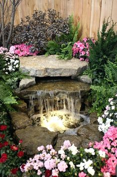 Creative Water Gardens Waterfall And Pond For A Very Small Garden Or Corner Ofsmall Pictures Backyard Ponds Waterfalls