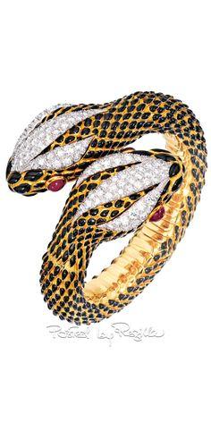 Regilla ⚜ Una Fiorentina in California Snake Bracelet, Snake Jewelry, Insect Jewelry, Bird Jewelry, Lotus Jewelry, Animal Jewelry, Jewelry Art, Bangle Bracelets, Jewelry Design