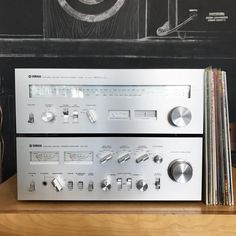A beautiful matching Yamaha set is now available! Yamaha CA-810 stereo amplifier and a CT-810 AM/FM tuner in near mint shape. • • • #Yamaha #amplifier #tuner #hifi #phono #analog #analogrecordshop #vintage #design #homedesign #stereo #turntable #recordplayer #vinyl #records #nowspinning #vinyligclub #oc #tustin #ca #orangecounty