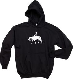 Western Pleasure The Brand Horse and Rider Black Hoodie - Charlie Horse Apparel