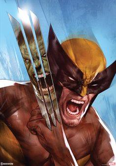The Geeky Nerfherder: #CoolArt: 'The Incredible Hulk vs Wolverine' print by Ben Oliver through Sideshow Collectibles