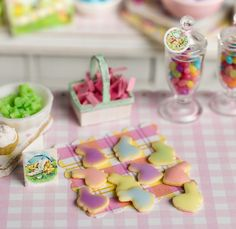 Miniature Easter Bunny Cookies in Shabby Egg by CuteinMiniature