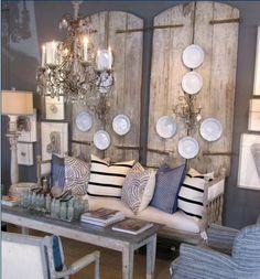 Interior Design: Arteriors and Lisa Luby Ryan Living Vintage, Old Doors, Antique Doors, Decoration, Rustic Decor, Rustic Salon, My Dream Home, Beautiful Homes, Beautiful Interiors