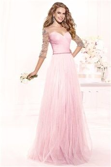 A-Line/Princess Sweetheart Floor-length Tulle Evening Dress