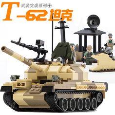 2016 New Military Tank Series WW2 Russia The T-62 main battle tanks model Building Block Classic toy GUDI 60019A