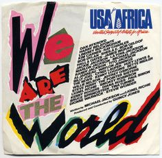"""We Are The World"" - USA For Africa 45 cover"