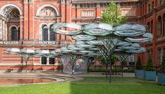 robots fabricate elytra filament pavilion at the V&A museum