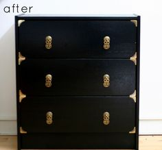 If you love IKEA Hacks as much as I do,this post is for you! There are so many Inspirational IKEA Hacks waiting for you to create! Something for every style Ikea Hack Nightstand, Ikea Dresser, Navy Dresser, Diy Dressers, Campaign Dresser, Campaign Furniture, Do It Yourself Furniture, Do It Yourself Home, Furniture Makeover