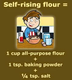 Scores of novice cooks are plagued by questions related to the difference between all-purpose flour and self-rising flour. This article dwells on self-rising flour vs all-purpose flour. Baking Tips, Baking Recipes, Baking Hacks, Baking Substitutions, Baking Secrets, Recipe Substitutes, Freezer Recipes, Beer Recipes, Freezer Cooking