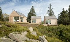 Three-in-one Maine cabins take separate bedrooms to a whole new level | Inhabitat - Green Design, Innovation, Architecture, Green Building