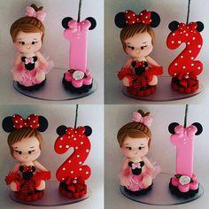 Bom dia  Mini topinhos #minnie #minnierosa #minnievermelha #festaminnie