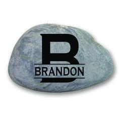 Garden Stone  - Monogram personalized with nam thru initial -2