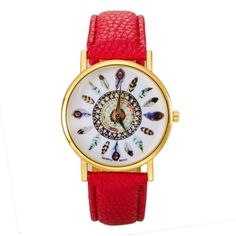 2017 New Fashion Women Watches Print Clock Female PU Leather Fashion Wristwatches Ladies Watches Relojes Mujer Montre Femme #523