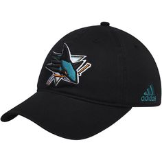 dbac4d936b1a5 San Jose Sharks adidas Solid Slouch Fitted Hat - Black