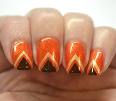 Blogger Bragger Autumn Nail Art Challenge, Week 2- Orange