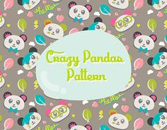 """Check out new work on my @Behance portfolio: """"Crazy Pandas Pattern"""" http://on.be.net/1LXfe1m"""