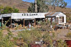 Abandoned Ed's Camp on Historic Route 66, Arizona.