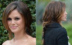 Para um evento da Chanel, Rachel Bilson fez um trança superlarguinha, deixando toda a frente solta ao natural. Penteado perfeito para aquele bad hair day, hein?