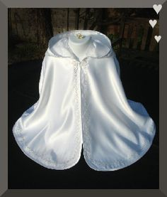 Christening Cape   Christening Baptism bibs, Capes, Pouches, gifts!