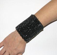Black Cuff Bracelets Jewelry / bracelet/cuff  acrylic by kovale, $68.00