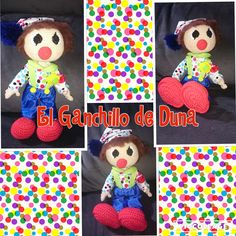 Payasito/clown #crochet #ganchillo