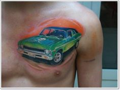 2017 trend Tattoo Trends - 30 of the Most Amazing Car and Motorcycle Tattoo Designs Check more at http://tattooviral.com/tattoo-designs/tattoo-trends-30-of-the-most-amazing-car-and-motorcycle-tattoo-designs/
