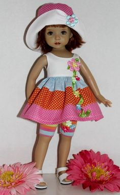 """~*~Colorful Summer Fun~fits 13"""" Effner Little Darling~3PC~*~"""
